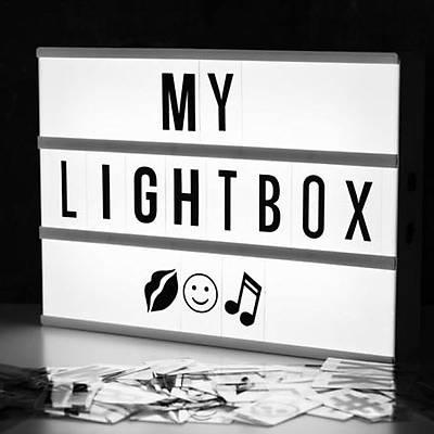 LightBox A5  - Iþýklý Yazý Panosu 96 Harf