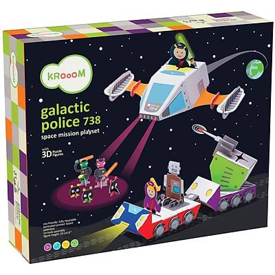 Krooom Galactic Police 738 Space Mission Playset