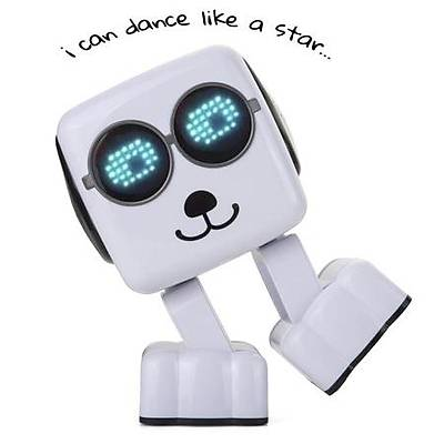 Clever Cube Dancing Music Robot - Ýnteraktif Akýllý Bluetooth Hoparlör