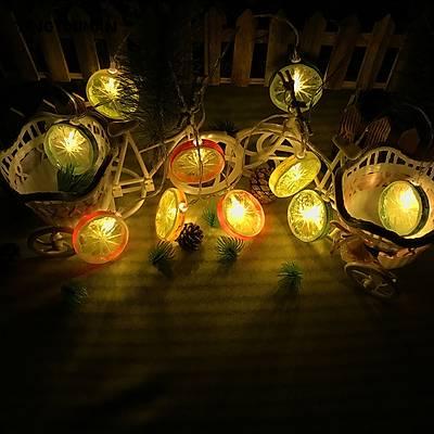 Portakal ve Limon Dilimleri Işık Zinciri Led Lamba