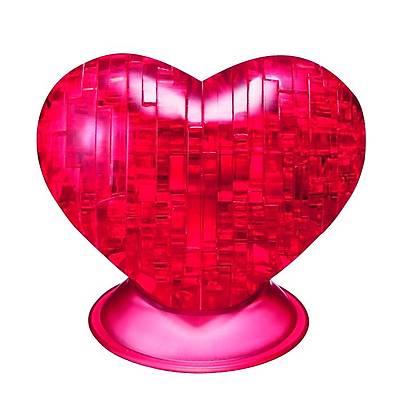 3D Crystal Puzzle Red Heart- 3 Boyutlu Kýrmýzý Kalp Puzzle
