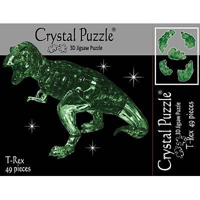 3D Crystal Puzzle Green T-Rex - 3 Boyutlu Yeþil T-Rex Puzzle
