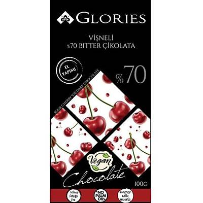 Glories Viþneli %70 Bitter Çikolata