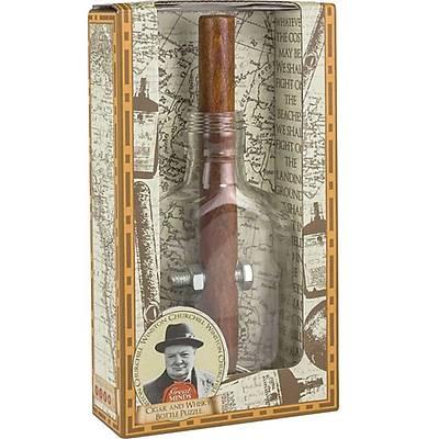 Churchills Cigar and Whiskey Bottle - Churchill'in Bulmacasý