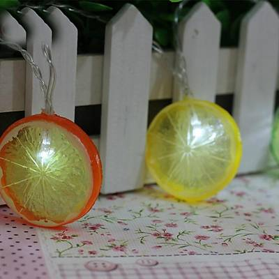 Portakal ve Limon Dilimleri Iþýk Zinciri Led Lamba