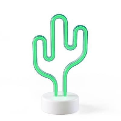Mini Kaktüs Neon Aydýnlatma - Pilli