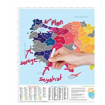 Scratch Map Turkey Edition - Kazýma Poster Haritasý Türkiye