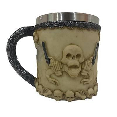 Kemik Tasarýmlý Kuru Kafa Kupa - Skull Mug
