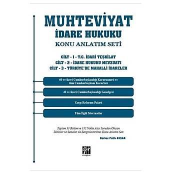 Gazi Kitabevi Yayýnlarý Muhteviyat Ýdare Hukuku Konu Anlatým Seti (3 Cilt Takým) Berker Fatih Avþa