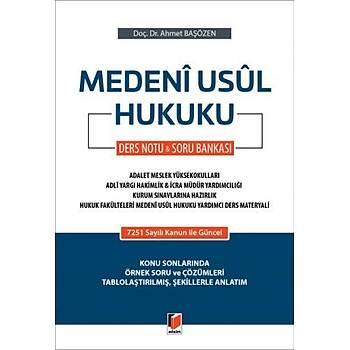 Medeni Usul Hukuku Ders Notu & Soru Bankasý Ahmet Baþözen