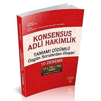 Savaþ KONSENSUS Adli Hakimlik Tamamý Çözümlü Özgün Sorulardan Oluþan 10 Deneme 2019