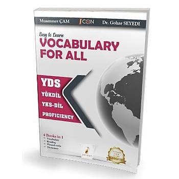 Pelikan Yayýnevi    Easy to Learn Vocabulary for All YDS YÖKDÝL YKS-DÝL PROFICIENCY Muammer Çam, Dr.Gohar Seyedi