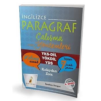 Pelikan Yayýnevi   Ýngilizce Paragraf Çalýþma Yöntemleri - Ýbrahim Durgut