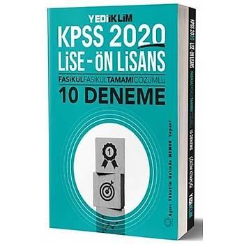 Yediiklim Yayýnlarý 2020 KPSS Lise Ön Lisans Tamamý Çözümlü 10 Fasikül Denem