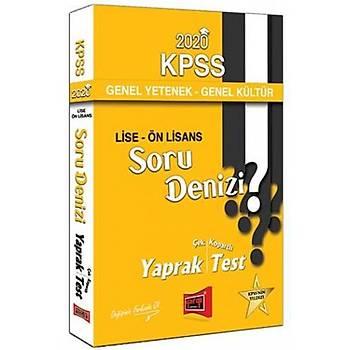 Yargý Yayýnlarý 2020 KPSS Lise Ön Lisans GY GK Soru Denizi Çek Kopartlý Yaprak Test
