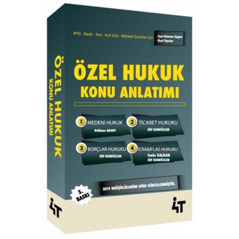 4T Özel Hukuk Konu Anlatýmlý Elif Kendüzler Özbek, Gökhan Aksoy 4T Yayýnlarý