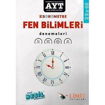 Limit Yayýnlarý AYT Fen Bilimleri Kronometre 20 x 40 Denemeleri Komisyon Limit Yayýnlarý YKS