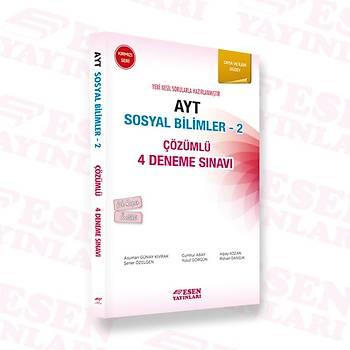 Ayt Sosyal Bilimler-2 Çözümlü 4 Deneme Sýnavý - Kýrmýzý Seri