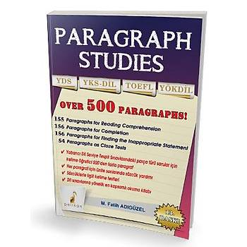 Pelikan Paragraph Studies YDS YKSDÝL TOEFL - M. Fatih Adýgüzel M. Fatih Adýgüzel Pelikan Yayýnevi