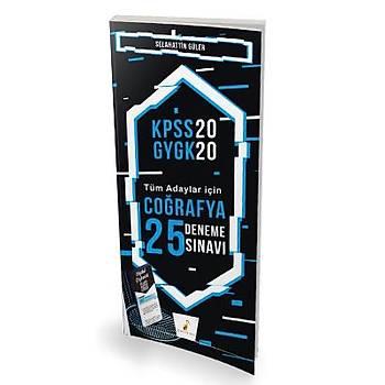 Pelikan Yayýnlarý 2020 KPSS Coðrafya 25 Deneme Sýnavý Dijital Çözümlü Selahattin Güler Pelikan Yayýnevi