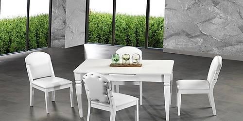 Milenyum Beyaz Masa Sandalye