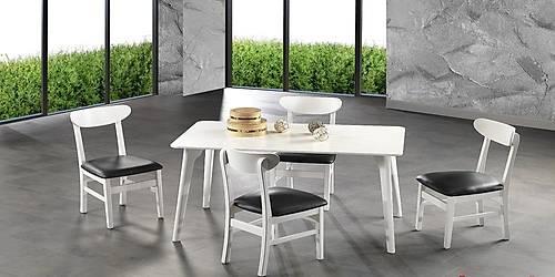 Buðra Beyaz Masa Sandalye