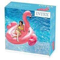 Ýntex Dev Boy Flamingo Yüzen Ada Binici 218cm Flamingo Deniz Yataðý