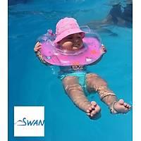 Swan Bebek Yüzme Boyun Simidi - Mavi
