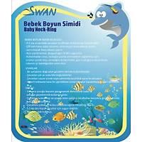 Swan Bebek Yüzme Boyun Simidi - Turuncu