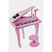 Kutulu Pilli 37 Tuþ Mikrofonlu ve Tabureli Piyano Pembe Piyano
