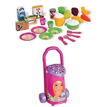 Barbie Pazar Arabası Eğitici Oyuncak Lisanslı