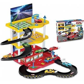 3 Katlı Otopark Garaj Oyun Seti