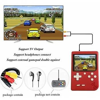 Retro Mini Taşınabilir El Konsolu Emülatör 400 Klasik Oyunlu Atari Kontorland TV ve El Atarisi