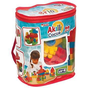 Akıllı Çocuk 60 Parça Lego Büyük Parçalı Blok