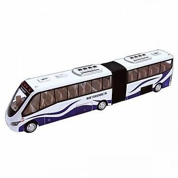 Metrobüs Oyuncak Metal Çek Bırak Pilli Sesli Işıklı 1:32 Metrobüs