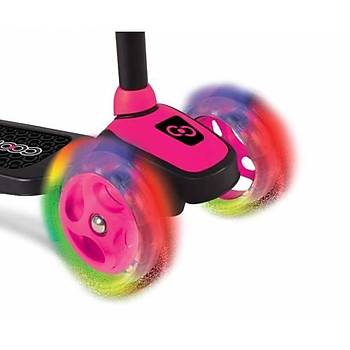Cool Wheels 3 Tekerlekli Twistable Scooter Frenli Işıklı Teker Pembe