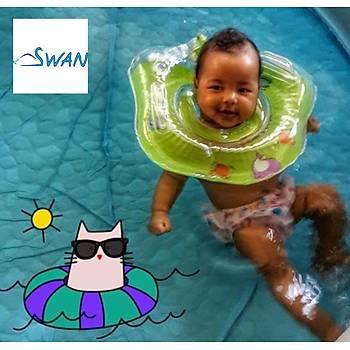 Swan Bebek Yüzme Boyun Simidi - Yeşil