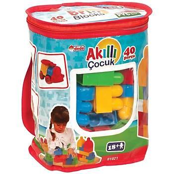Akıllı Çocuk 40 Parça Lego Büyük Parçalı Blok