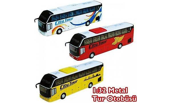 Otobüs Oyuncak Metal Çek Býrak Pilli Sesli Iþýklý 1:32 Tur Otobüs