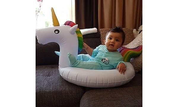 Swan Unicorn Boynuzlu At Þiþme Bebek Simidi