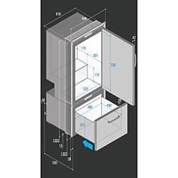 Buzdolabý/derin dondurucu. Model DW250