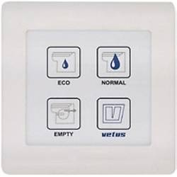 Su geçirmez elektronik kumanda paneli. Vetus TMW tuvalet için