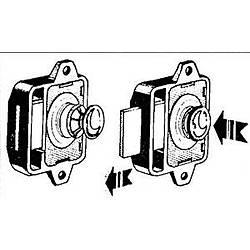 38.36.180 kilit için buton & halka. Delik Ø 26mm.