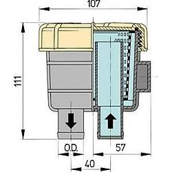 Vetus tip 140 deniz suyu filtresi