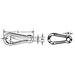 Sustalý kilit, gözlü, AISI 316 paslanmaz çelik 5 mm