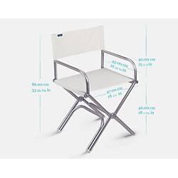 Aluminum Güverte Sandalyesi Deri  Kol Dayama Teak.