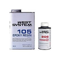 West Epoxy System 105-206 Paket 1.2 Kg