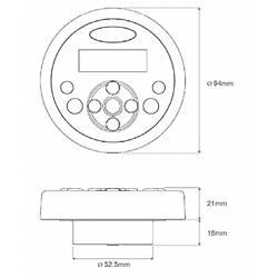 Aquatic AQ-WR-4F LCD ekranlý, sabit, kablolu uzaktan kumanda