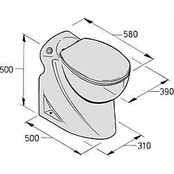 Vetus elektrikli marine tuvalet Tip WCL24