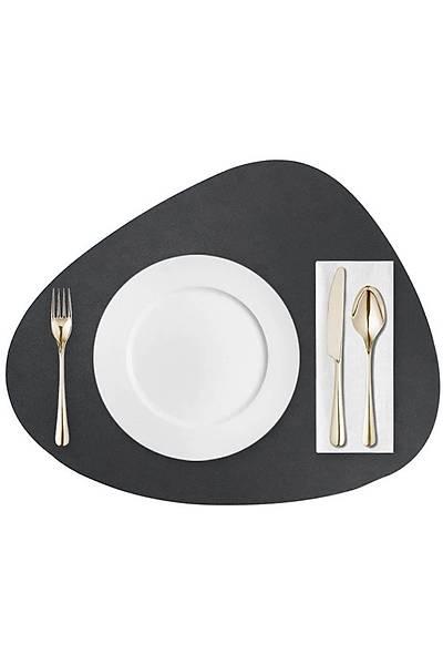 Siyah Deri Amerikan Servis - 12 Parça - 6 Kiþilik